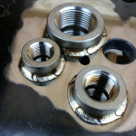 Pipe couplers to flange